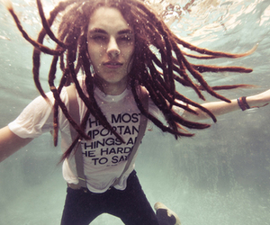dreads, boy, and water image