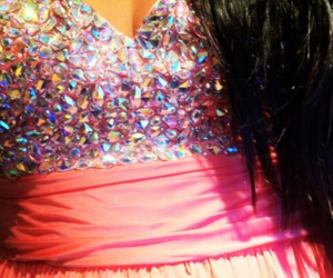 dress, glitter, and pink image