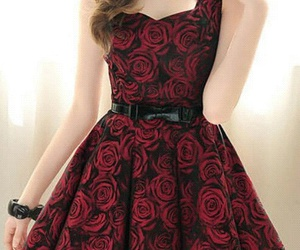 dress, rose, and fashion image