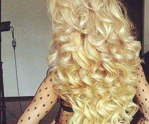 blond, curly, and fashion image