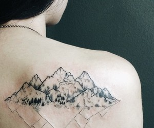tattoo and mountains image
