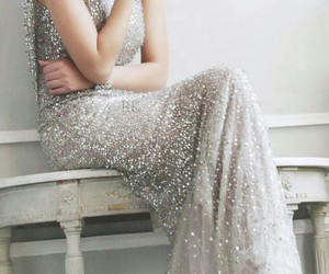 dress, silver, and smile image