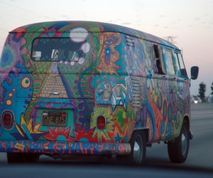 hippie, vans, and car image