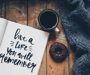 coffee, donut, and life image