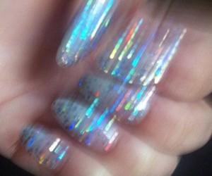 nails, grunge, and glitter image