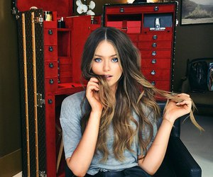 kristina bazan, fashion, and hair image