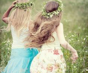 hair, little girls, and long hair image