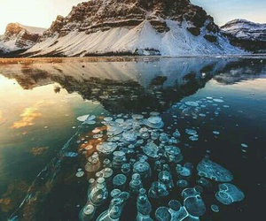 nature, mountains, and ice image