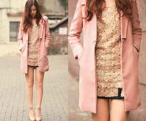 baby pink, fashion, and gold image