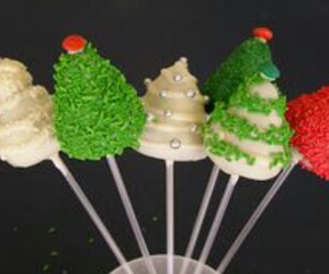 cake, cake pops, and christmas image
