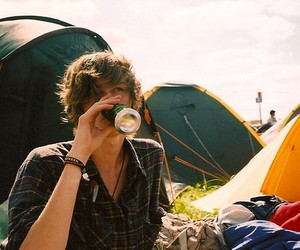 boy, tent, and guy image