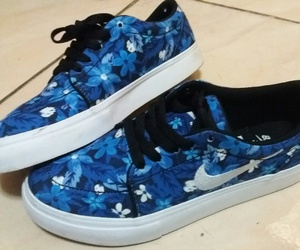 blue, nike, and flower image