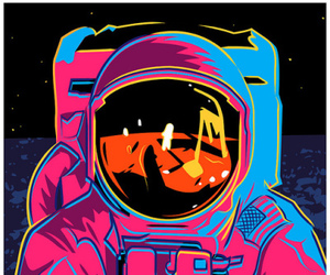 astronaut and pop art image