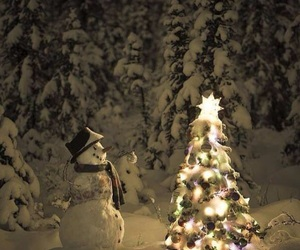 snow, christmas, and snowman image