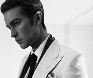 Chace Crawford, actor, and black and white image