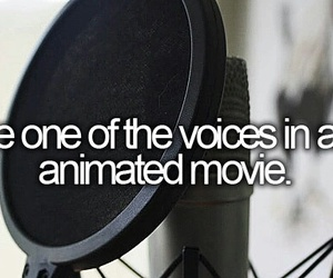 voice, bucket list, and animated image