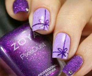 purple and nails image