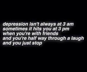 depression, sad, and quotes image