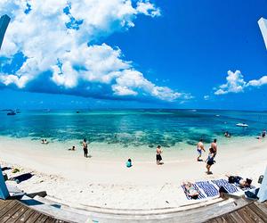 beach, sky, and summer image