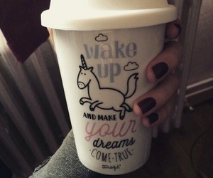 unicorn, Dream, and coffee image