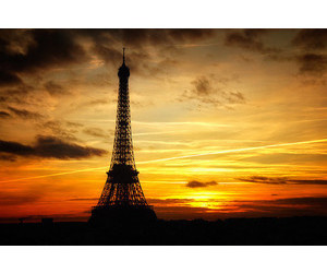 paris, tower, and sunset image