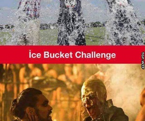 funny, game of thrones, and ice bucket challenge image