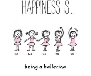 ballerina, ballet, and happiness image