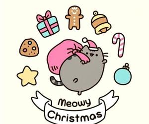 christmas, pusheen, and cat image