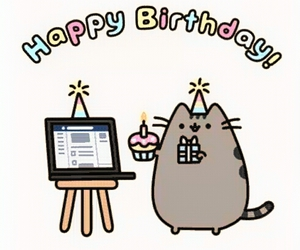 pusheen, happy birthday, and cat image