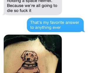 funny, tattoo, and text image