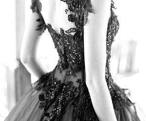 back, ballerina, and black image