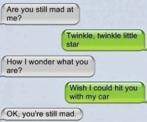 funny, mad, and text image