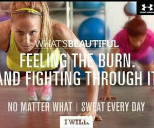fitness, workout, and burn image