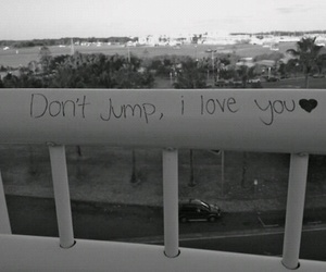 suicide, black, and jump image