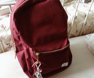 backpack, maroon, and red image