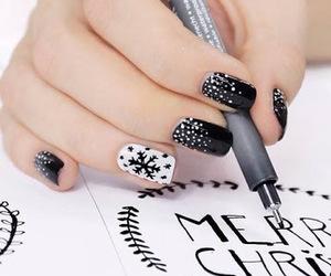 art, black and white, and christmas image