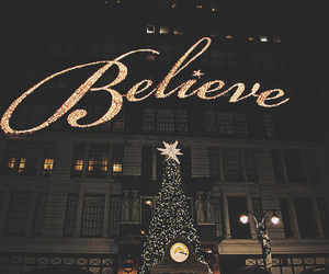 believe, light, and christmas image