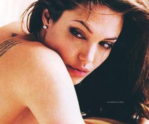 Angelina Jolie, eyes, and hair image