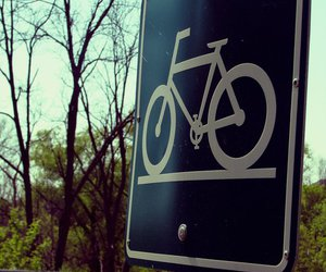 bike, photography, and sign image