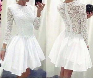 dress, fine, and white image