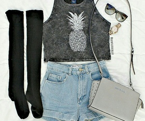 pineapple, outfit, and fashion image
