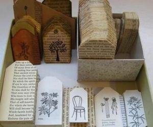 tag, book, and Paper image