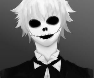 anime, gotico, and skull image