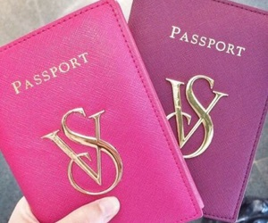 passport, pink, and Victoria's Secret image