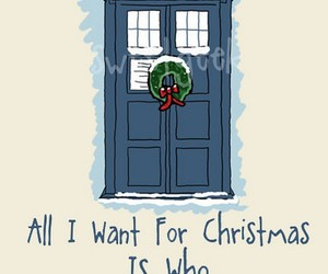 christmas, doctor who, and tardis image