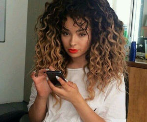 hair, curly, and ella eyre image
