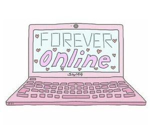 online, pink, and forever image