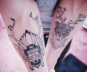 tattoo, black, and hipster image