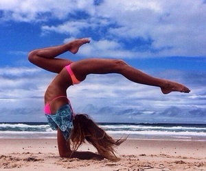 summer, fitness, and beach image