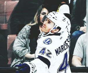 bolts, goal, and hockey image
